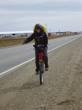 unicycle demo, Tierra del Fuego