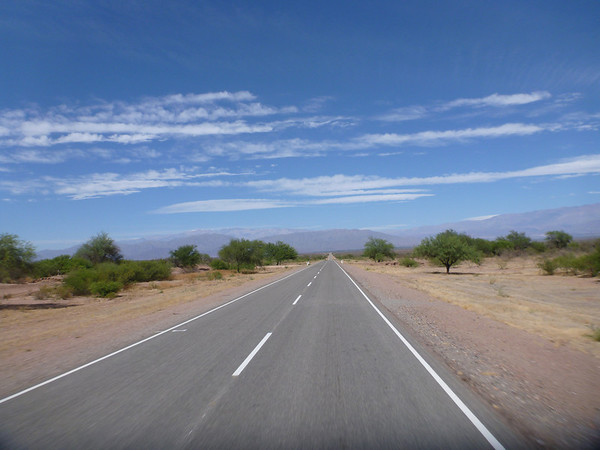 Heading south on Route 40 from Salta to San Jose de Jachal.