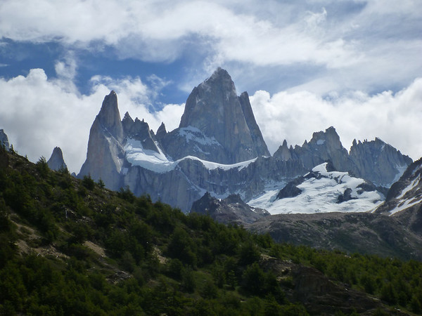 View of Fitz Roy on the Tres Lagos hike in el Chaltén