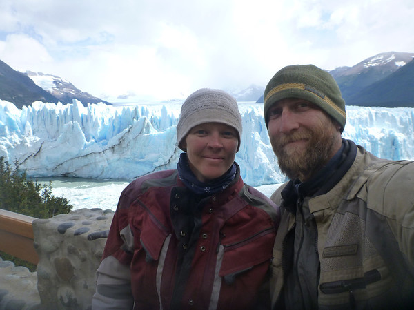 Us at the Perito Moreno glacier