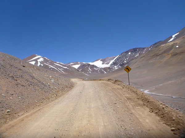 On the way to the Chile side of the Agua Negra border crossing.