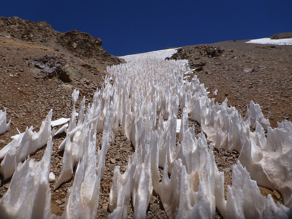 Snow melt on the way to the Chile side of the Agua Negra border crossing.