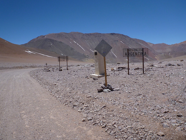 Argentine side of the border.