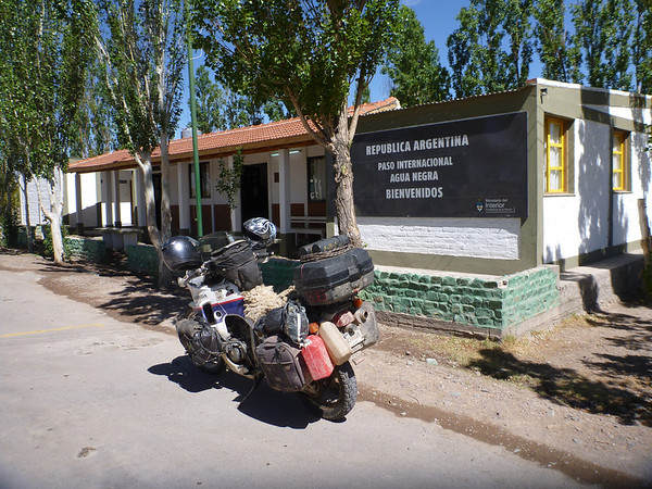 At the Argentine side of the Agua Negra border crossing.