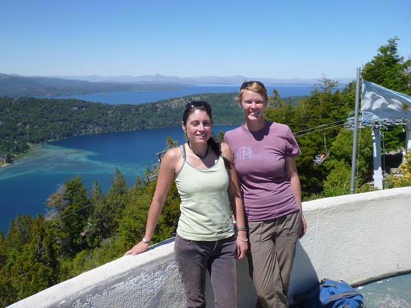 Lisa and Jill at Cerro Campanario in Bariloche.