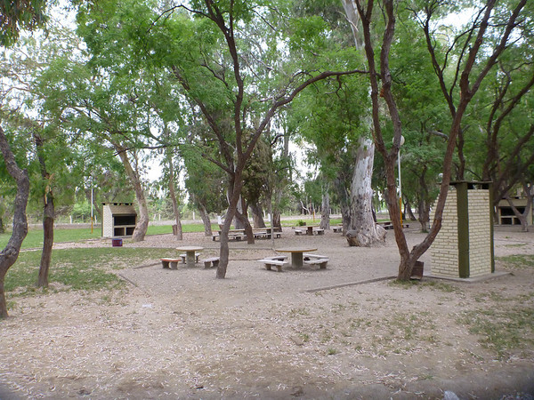 Our site at the municipal campgrounds in San Jose de Jachal.