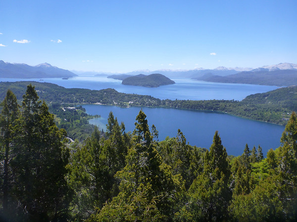 View from Cerro Campanario in Bariloche.