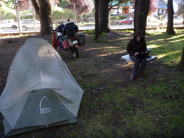 Camping with wifi at the tent in San Martin de los Andes.