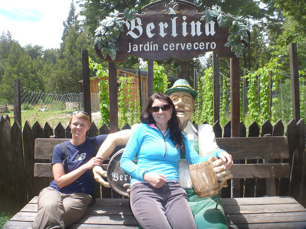 Jill and Lisa with at the Berlina brewery in Bariloche.