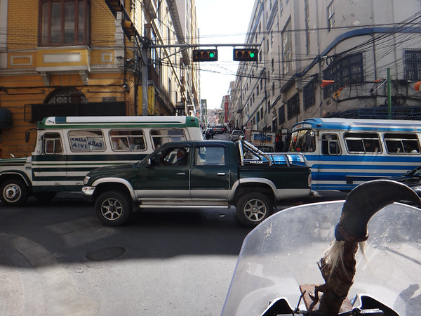 Light traffic, la Paz
