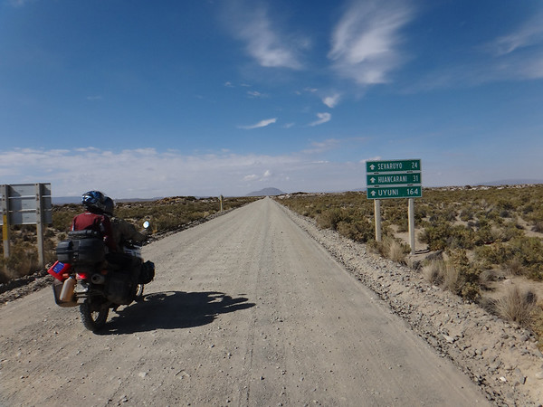 only 164 km of washboard and sand to Uyuni