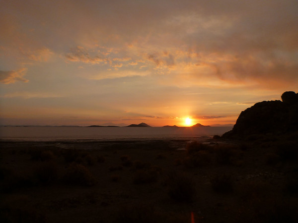 Sunset over the Salar