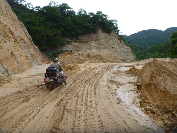 Mike working his way through on the way to the Bolivian border.