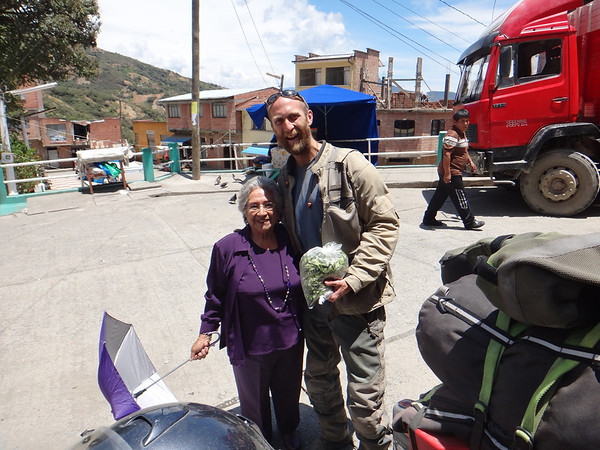 Yolanda with Mike in Coripata.  She was a sweet old lady, who is excited to visit relatives in the states later this year