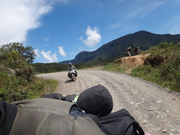 Us riding outside of Coroico, Yungas region