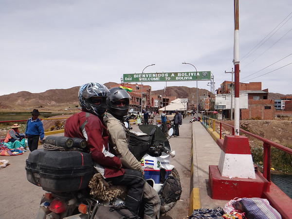 Mike and Jill crossing into Bolivia