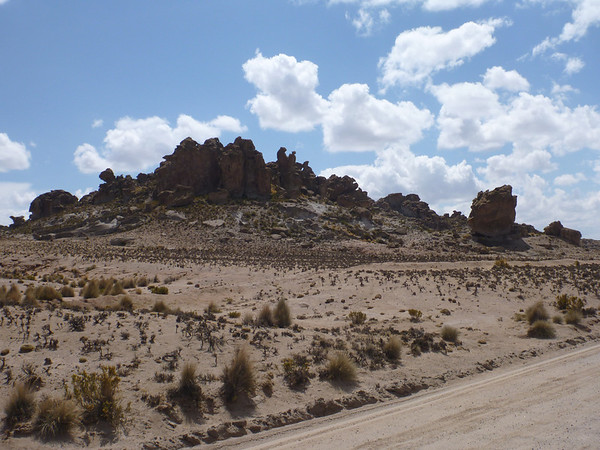 rock formations north of Uyuni