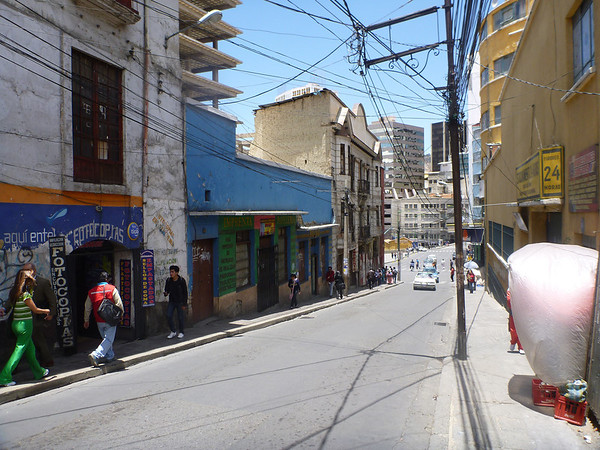 La Paz - some blocks look kinda beat up, while the very next block will be decadent (esp. by Bolivian standards)