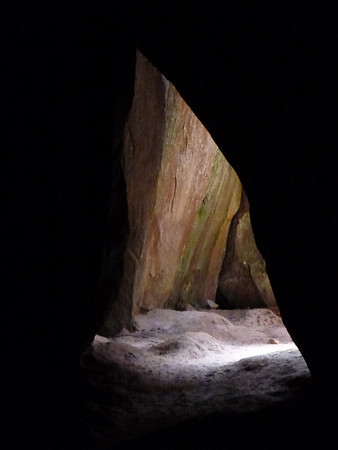 from inside a cave near Ciudad de Itas