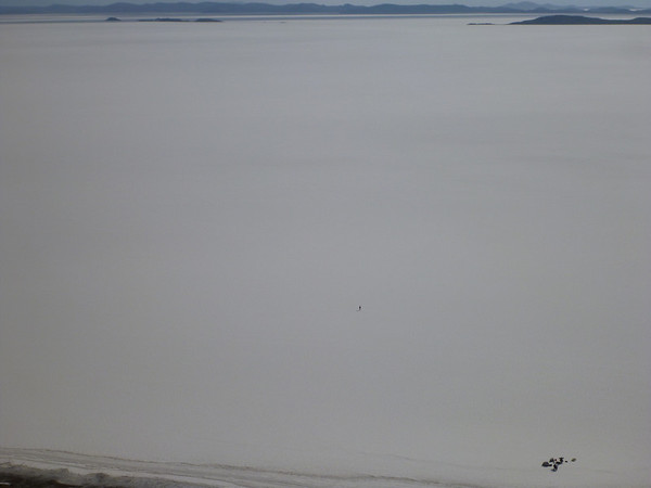 Camp at lower right, with Mark closer to the  middle of the frame.  The Salar is expansive