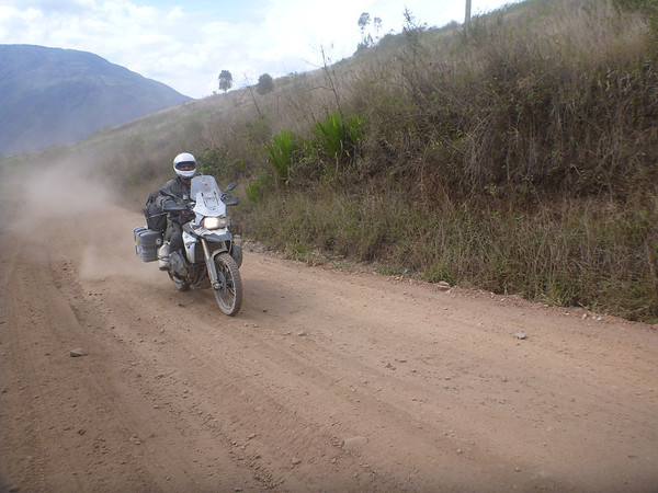 Mark kicking up some dust, Yungas