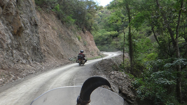 Riding in the Yungas region