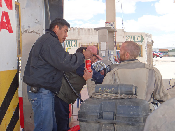 Mike's a magnet for drunko's.  This one kept saying he liked Mike's head, and insisted on sharing his beer.