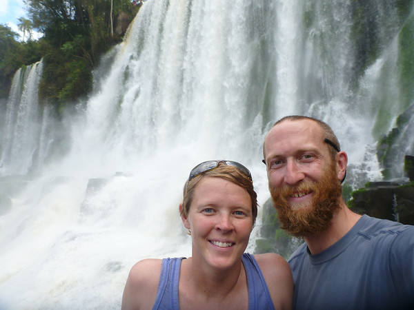us in front of Salto Bossetti  (Cataratas de Iguazú)
