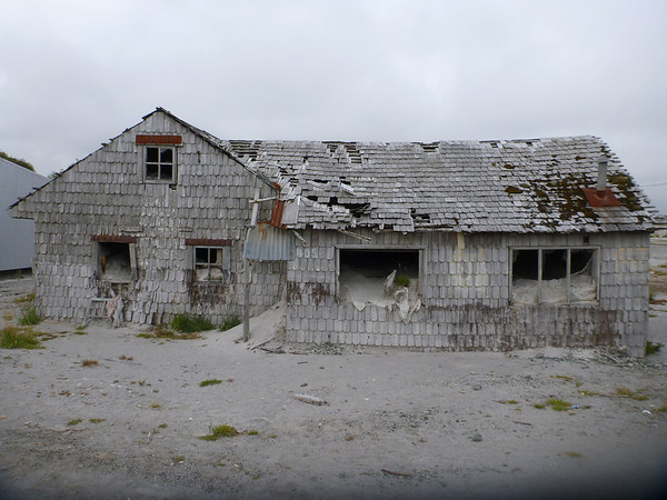 house filled with volcanic ash, Chaitén