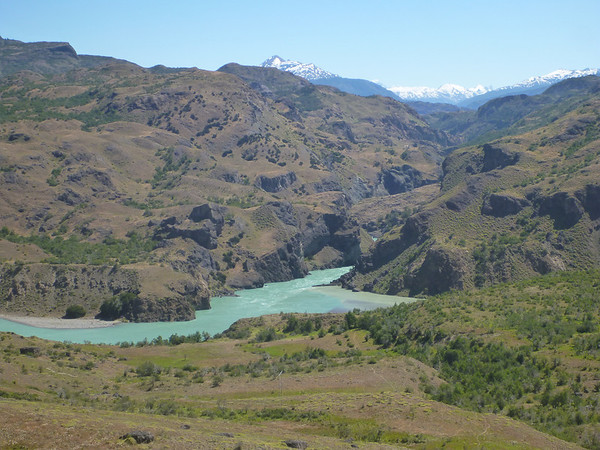 The confluencia of the Baker and Cochrane Rivers.