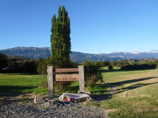 Our campsite at Los West Winds at the future Parque Patagonia.
