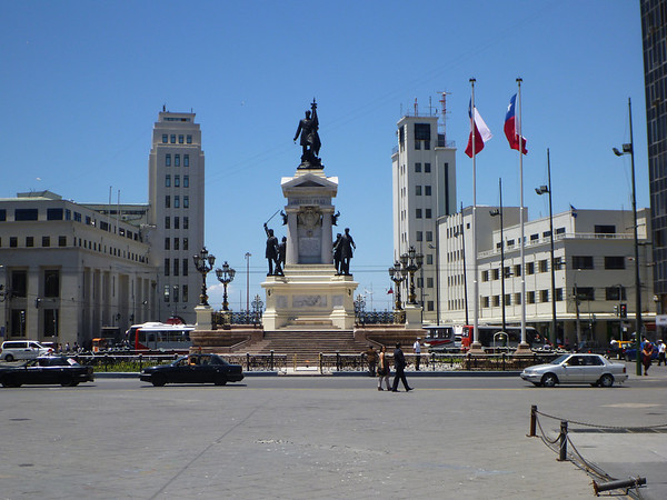 Plaza Sotomayer in Valparaiso.