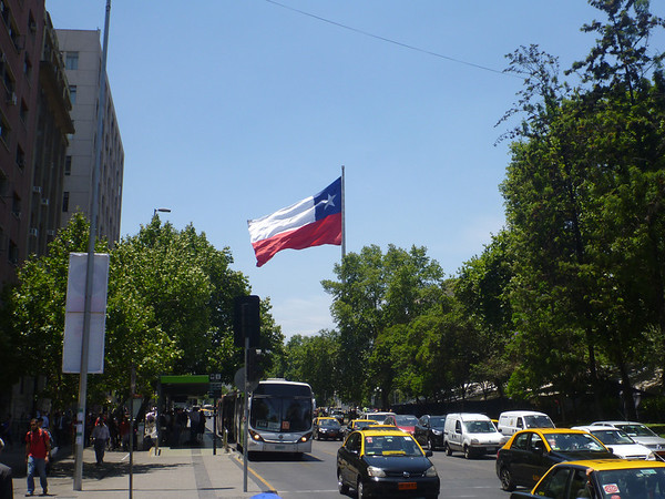 Near the presidential palace in Santiago.