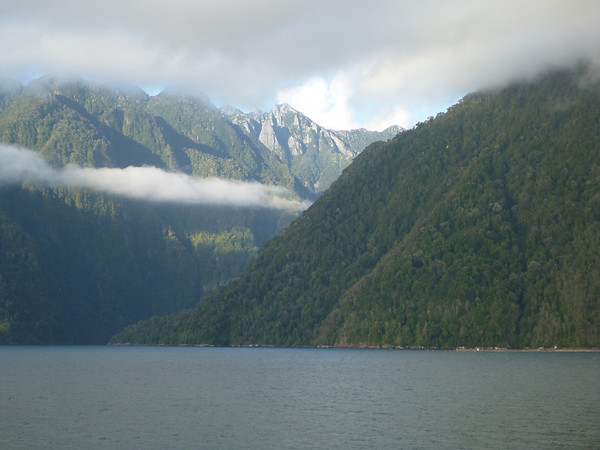 Fjords between Hornopirén and Leptepú, Ruta Bimodal, Carretera Austral