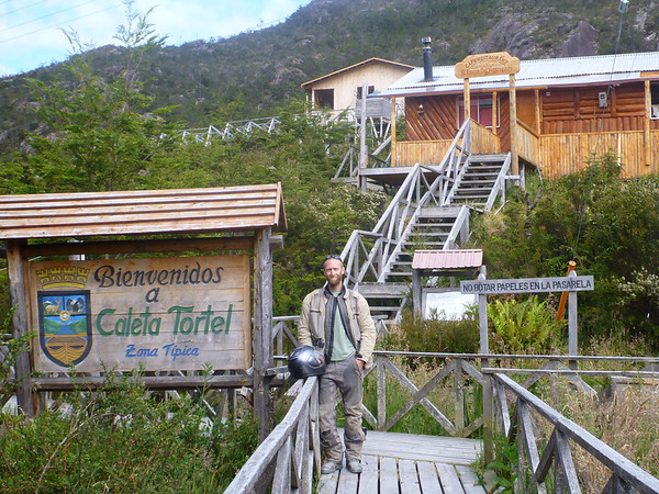 Mike on the boardwalks of Caleta Tortel
