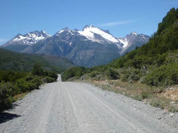 Carretera Austral approaching Cochrane from the south
