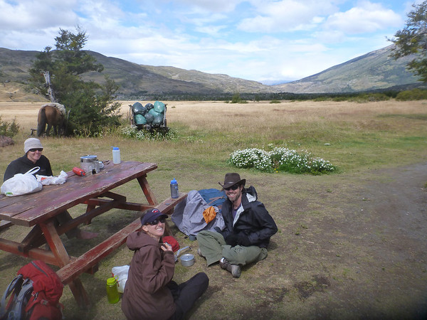Lunch at Campamento Serón, Torres del Paine