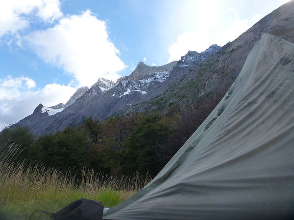 Nice campsite at Refugio Grey, Torres del Paine