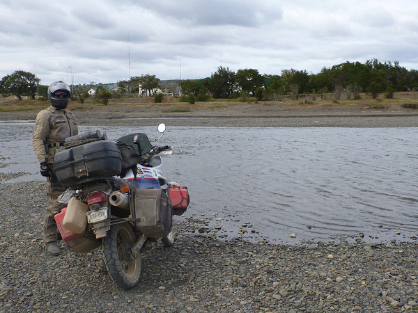 Luckily the river was low, allowing us to cross to Argentina