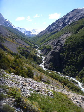 Valley view of Rio Ascensio, Torres del Paine