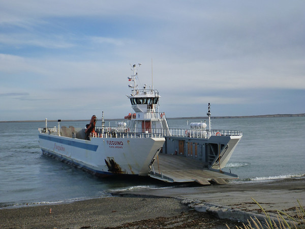 ferry at Primera Angostura.  Only 30 minute crossing and you buy your tickets on board, if you are so inclined.