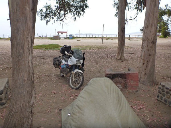 Camping on the beach at Pichidangui.