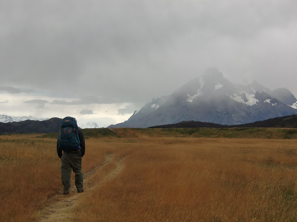 walking towards Cerro Paine Grande, Torres del Paine