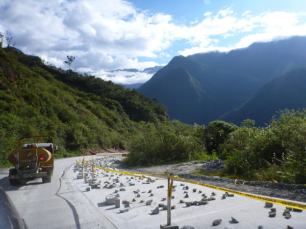 Making beautiful (new) pavement in southern Ecuador