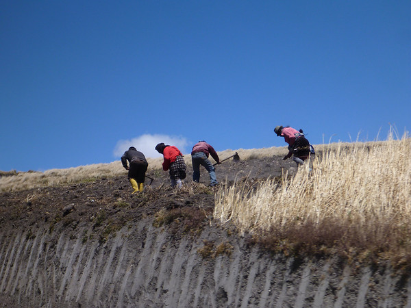 Field workers near Quilotoa