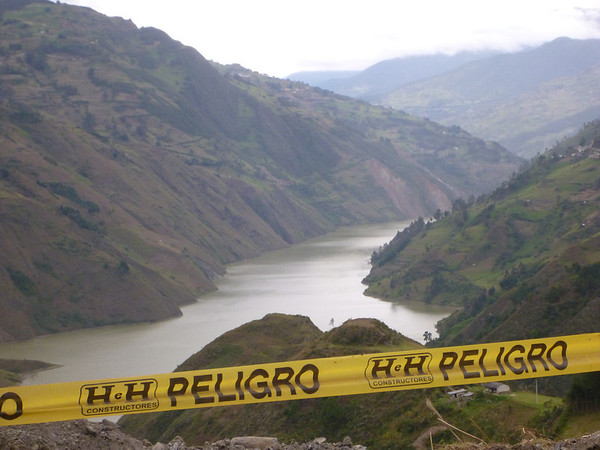 Dangerous lake on the way to Cuenca