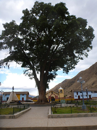 The main plaza in Ocros