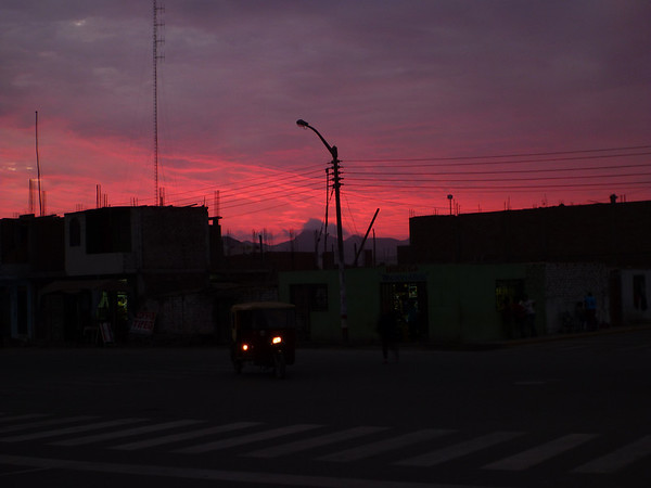 Sunset in Chao, Peru