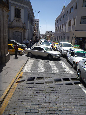 the usual state of traffic in Arequipa