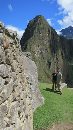 Us with Huaynu Picchu in background